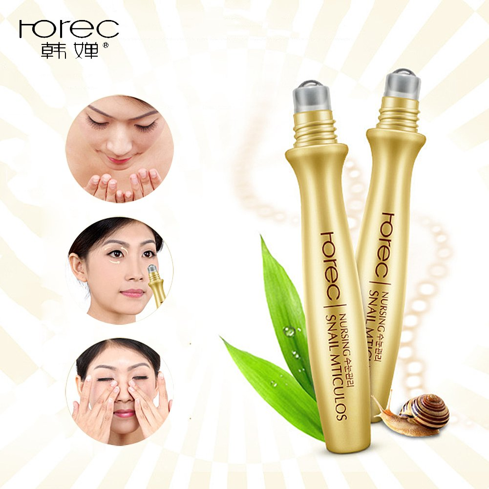 Snail Essence Eye Cream Moisturizing Nourishing Roll On Ql Eyebrow 15gr Dark Circles Removed Beauty
