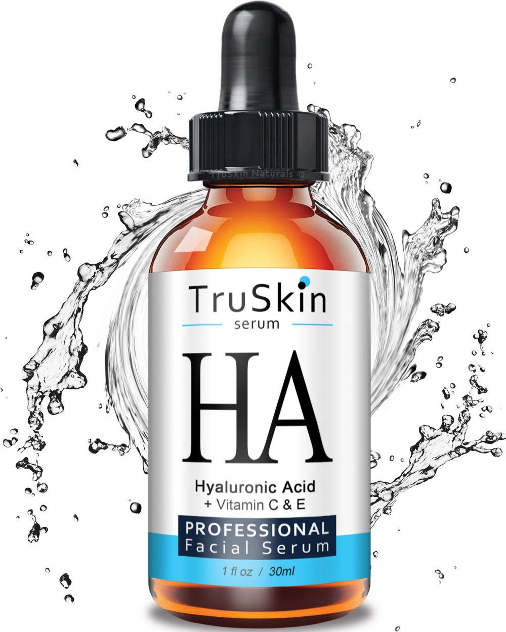 The BEST Hyaluronic Acid Serum for Skin & Face with Vitamin C, E, Organic Jojoba Oil, Natural Aloe and MSM - Deeply Hydrates & Plumps Skin to Fill-in Fine Lines & Wrinkles - (1oz) by TruSkin Naturals