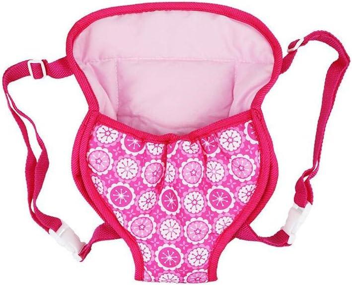 szseven Mochila de muñeca para muñecas de 14-16 Pulgadas Bolsa de Transporte para bebés Portabicicletas Accesorios para muñecas Bolsa para niñas