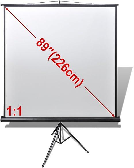 vidaXL Pantalla de proyección Manual Soporte de Altura Ajustable ...
