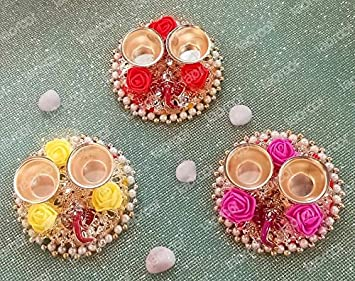 Buy Taproot Essentials 1 Pcs Of Kumkum Vati Chawal Akshat Haldi Kumkum Box Chopda For Gift And Pooja Decorative Purpose Item Online At Low Prices In India Amazon In