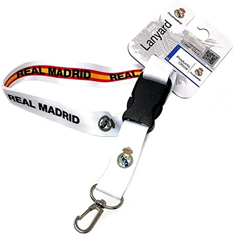 Lanyard Real Madrid Escudo Reversible Bandera España [AB7230]: Amazon.es: Deportes y aire libre