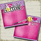 #8: I Love Softball NPM - Premade Scrapbook Pages - EZ Layout 3323