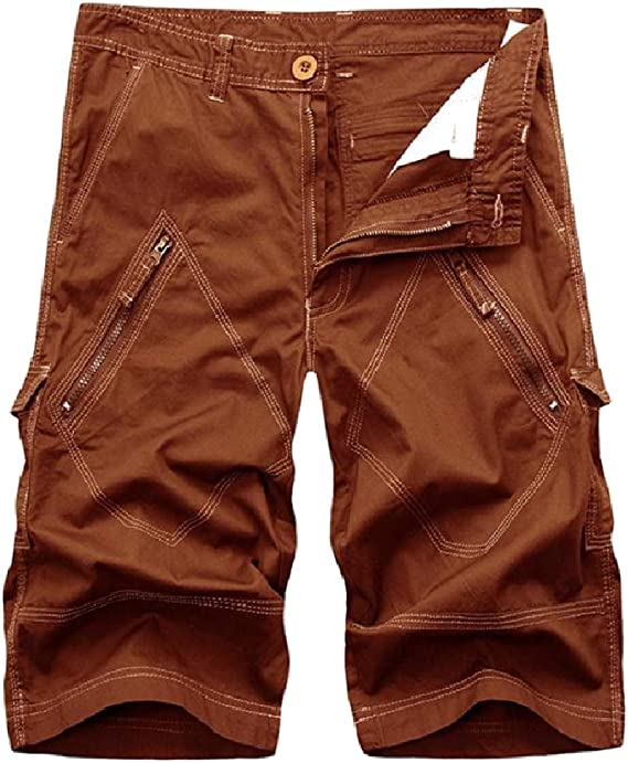 VITryst Mens Slim Plus Size Straight-Fit Airsoft Pants Relaxed Cargo Short