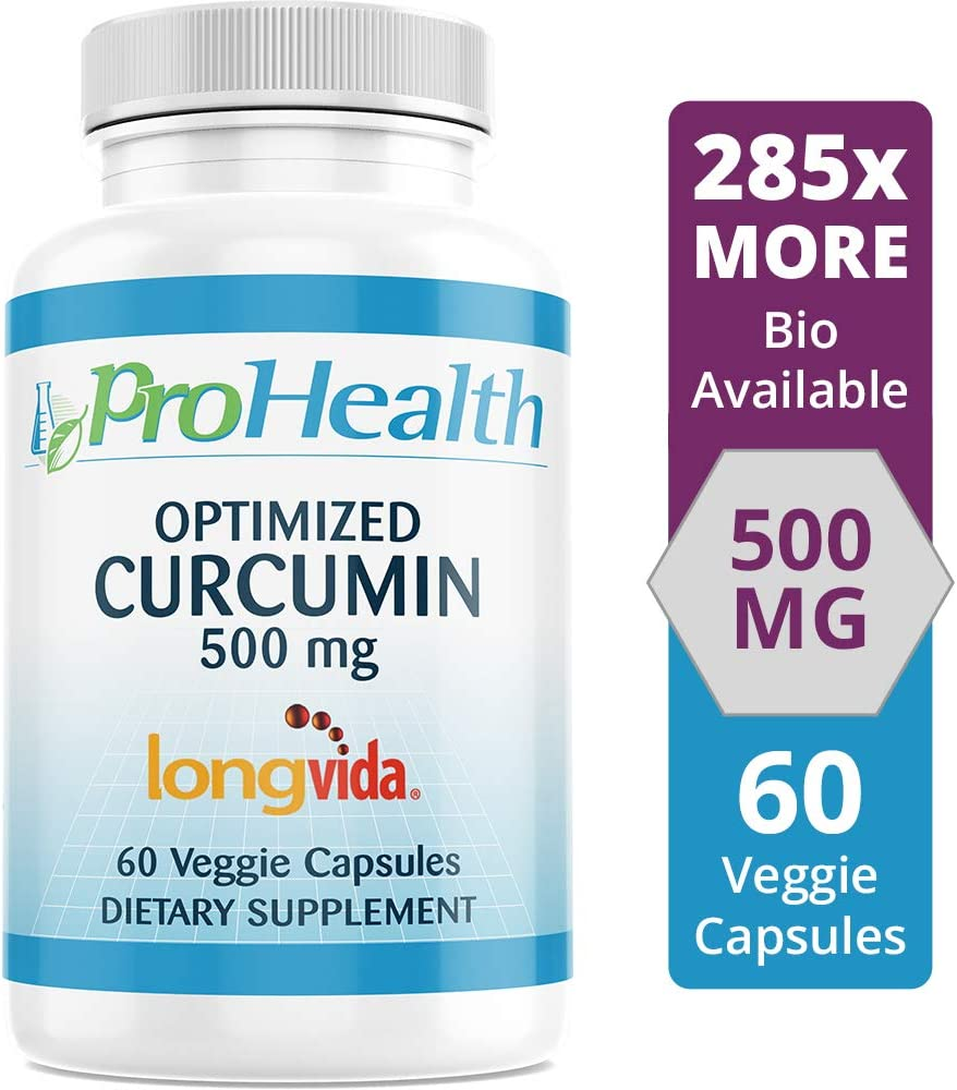 ProHealth Optimized Curcumin Longvida 60 Capsules (500 mg)