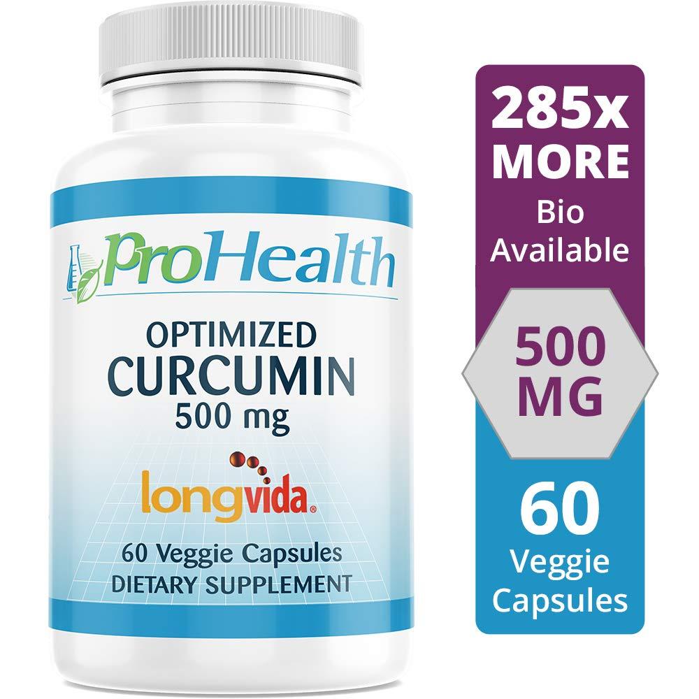 ProHealth Optimized Curcumin Longvida 60 Capsules (500 mg) by ProHealth