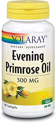 Solaray High Potency Evening Primrose Oil 500 mg Cold Pressed Women s Health Support 90 Softgels
