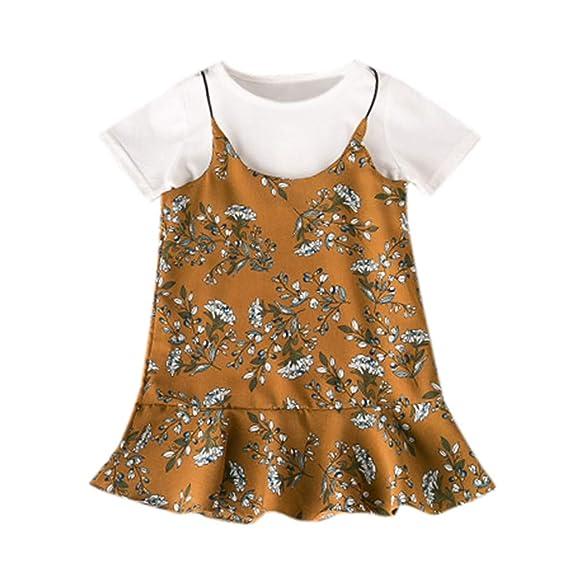 Amlaiworld Ropa de bebé niña Tops Florales de Camiseta Camisas Vestido de  Overol Casual Conjunto Vestido de Fiesta niña 2 años - 6 años  Amazon.es   Ropa y ... bfe1fb1e7be1