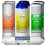 Water Filtration System iSpring F7-GAC 1-Year Filter Replacement Supply Set For 5-Stage Reverse Osmosis Water Filtration Systems