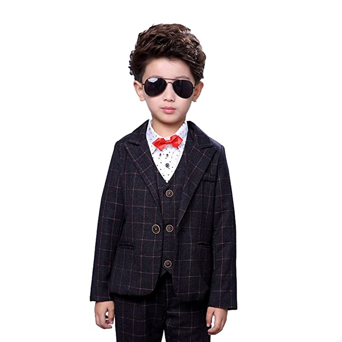 e23e2a67d Amazon.com  Gele Boy 4 Pieces Fashion Formal Suit