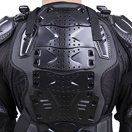 Motorcycle Full Body Armor Protector Pro Street Motocross ATV Guard Shirt Jacket with Back Protection Black 3XL by OHMOTOR (Image #2)