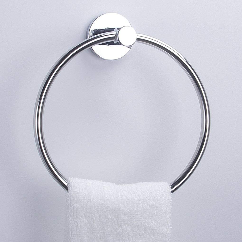 Charmingwater bagno asciugamano anello portasciugamani in acciaio inossidabile SUS304supporto da parete, finitura cromata