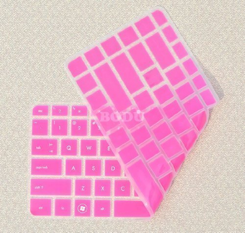 Bodu Colorful Keyboard Protector for HP Pavilion G4 G6 M4; Envy 4 6 15 Pro; DM4 DV4; HP 450 1000 2000; Presario 431 430 450 Q43 CQ57 CQ45,Pavilion TouchSmart 14-B137TX,242 G1 246 G1 (Hot Pink) (Hp Pavilion Dm4 Laptop Keyboard)