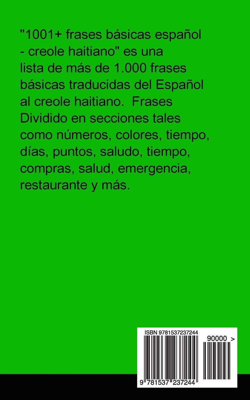 1001 frases básicas espa±ol creole haitiano Spanish and Haitian Edition Gilad Soffer Amazon Books