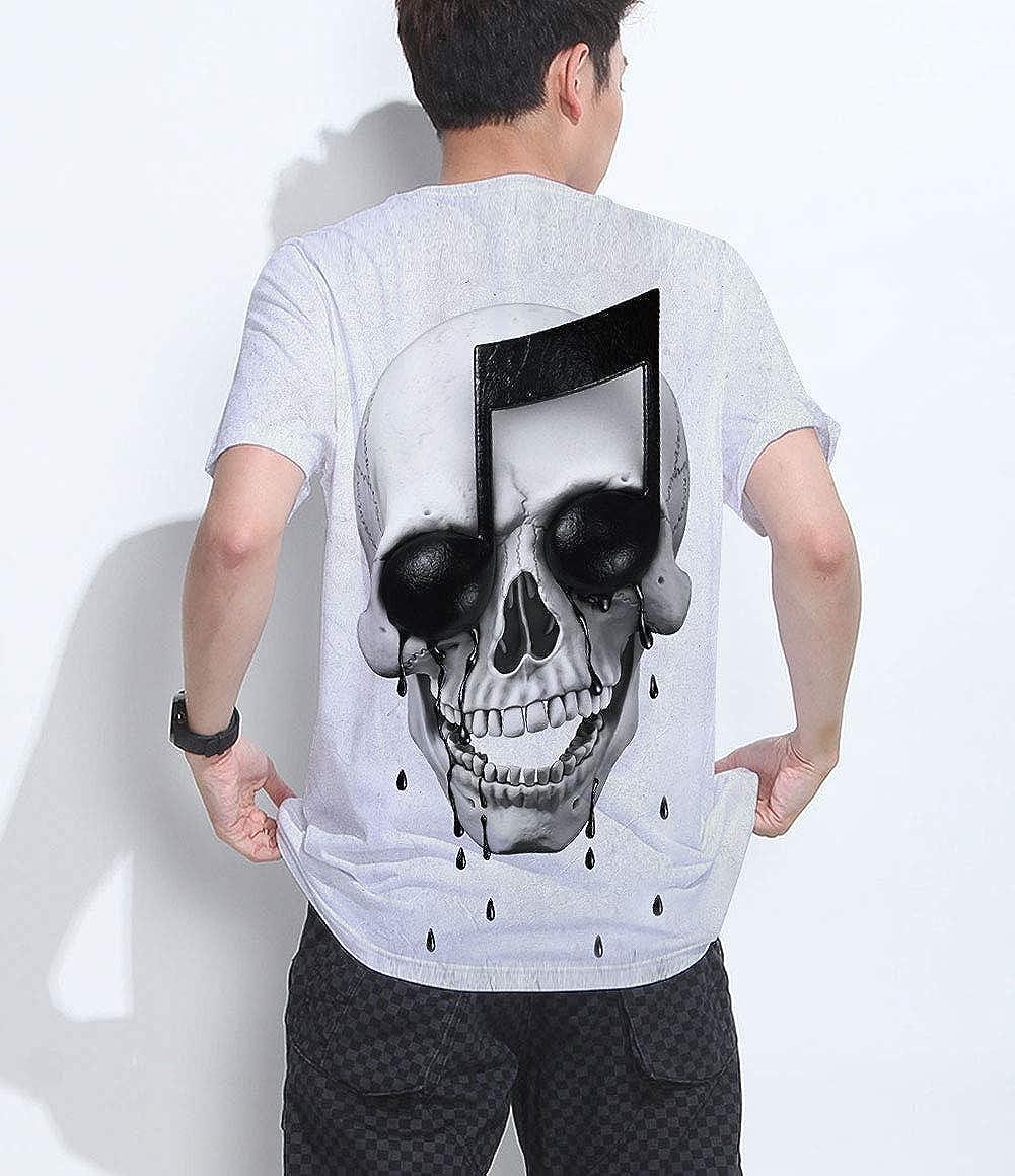 Fanient Hombres Camiseta 3D Patrones Impresos Manga Corta Camiseta S-XXL