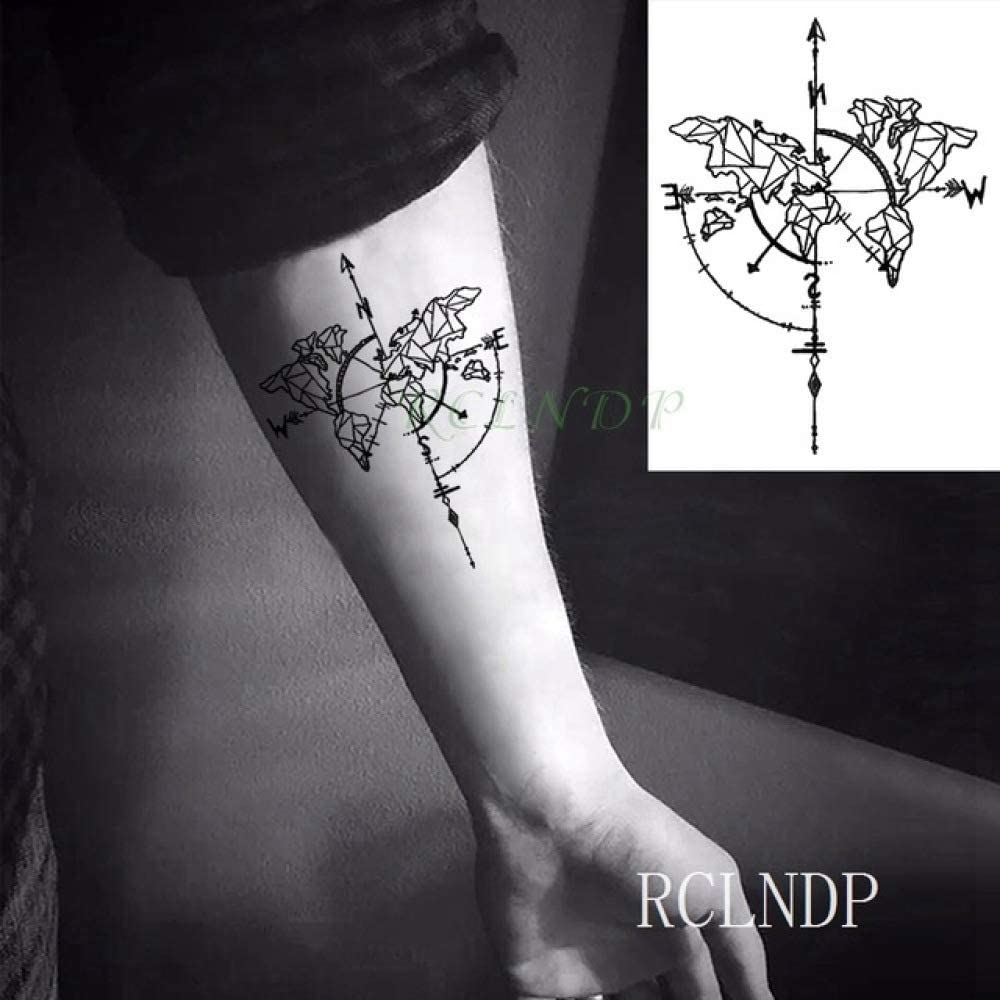 ljmljm 6 Piezas Tatuaje Impermeable Siberia Bosque árbol pájaro ...