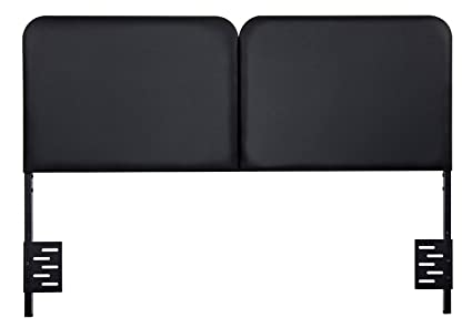 Olee Sleep Black Faux Leather Headboard Bed Mattress Bedroom Furniture  43HB01F (Full)