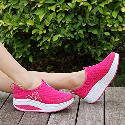 Shoe Flops Mesh Trainers Dance Platform Mary Swing Wedges Flip for Hot Thongs Flats Loafers Running Espadrilles Cute up Women Pink Lace Air Sandals Breathable VEMOW Walking Janes wPSAA