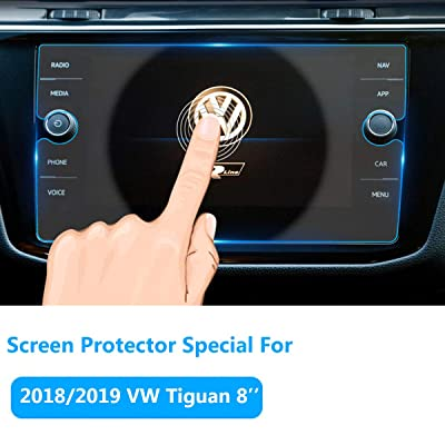 Screen Protector for Volkswagen Tiguan Navigation Display Screen 2020/2020/2020, TTCR-II Tempered Glass Screen Protector Anti-Explosion Entertainment LCD Screen Protector 8-Inch Fits Volkswagen Tiguan