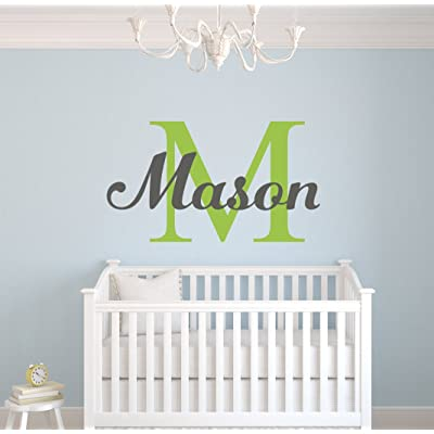 Custom Boys Name Wall Decal- Nursery Wall Decals - Boys Name Wall Decor (38Wx22H) : Baby