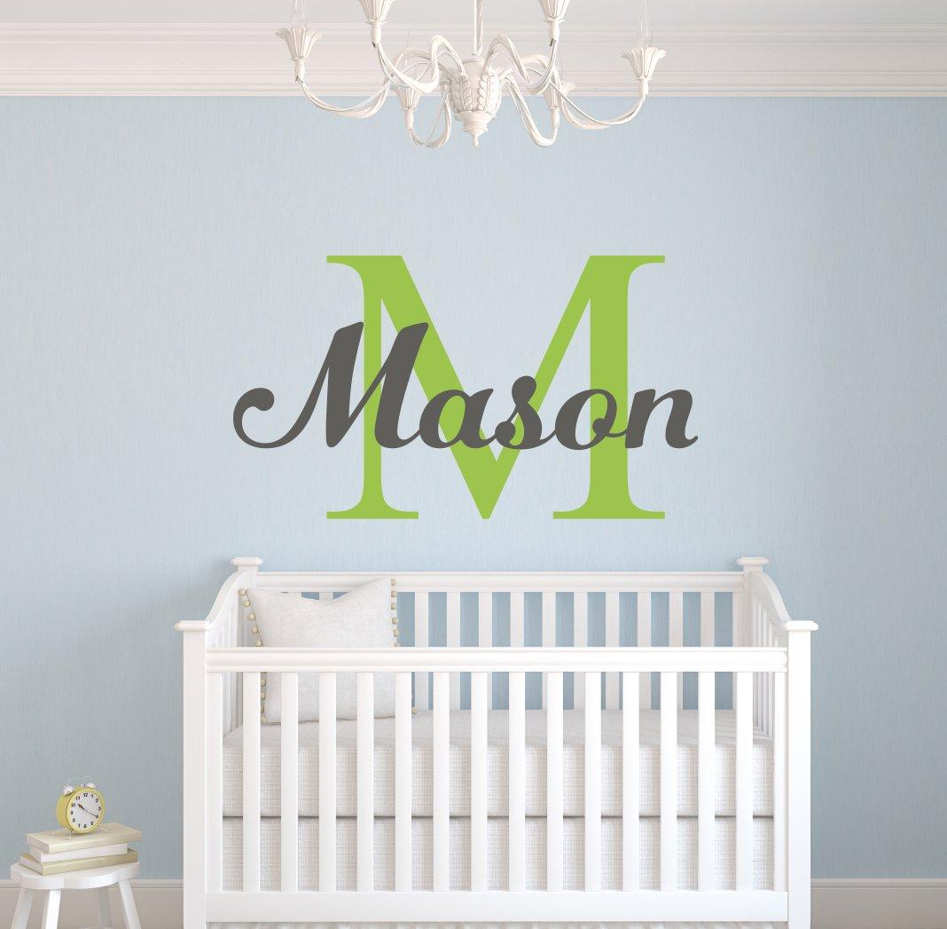 Custom Boys Name Wall Decal- Nursery Wall Decals - Boys Name Wall Decor (38Wx22H)