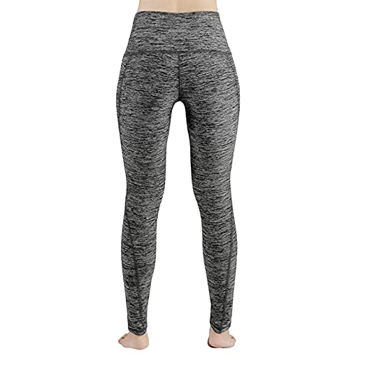 Amazon.com: HENWERD Leggings de cintura alta para yoga con ...