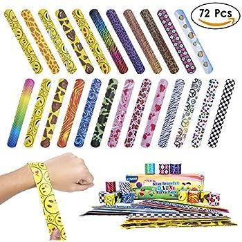amazoncom covasa slap bracelets party 72 pcs�24 designs