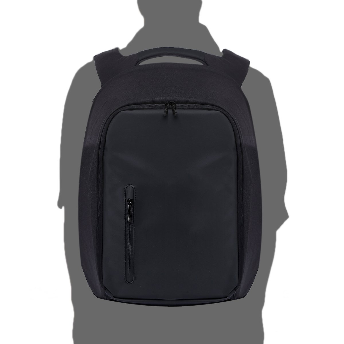 Anti-Theft Laptop Backpack Water Resistant College Backpack School Bag Business Bag with USB Charging Port for 15.6 Inch Laptop Notebook Travel Backpack Size 11.81\'\' x 6.69\'\' x 17.72\'\' (Black)