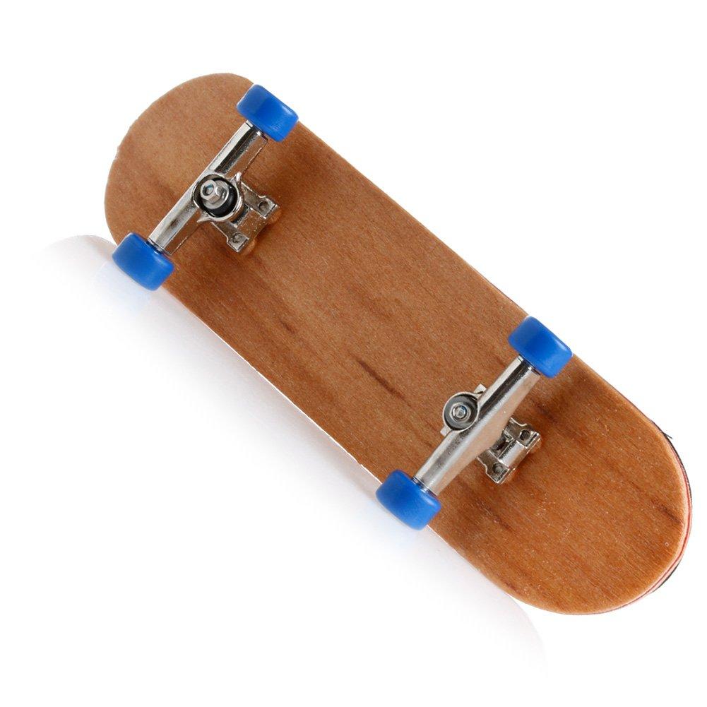 White RingBuu 1Set Wooden Deck Fingerboard Skateboard Sport Games Kids Gift Maple Wood Set New