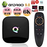 PHANTIO Q+ Android 9.0 Smart TV Box with Voice Remote : Jio TV Hotstar Allwinnner H6 Quad-core ARM Cortex-A53 CPU Mali-T720MP2 GPU Support 6K and 3D Function H.265 decoding (4GB / 64GB)
