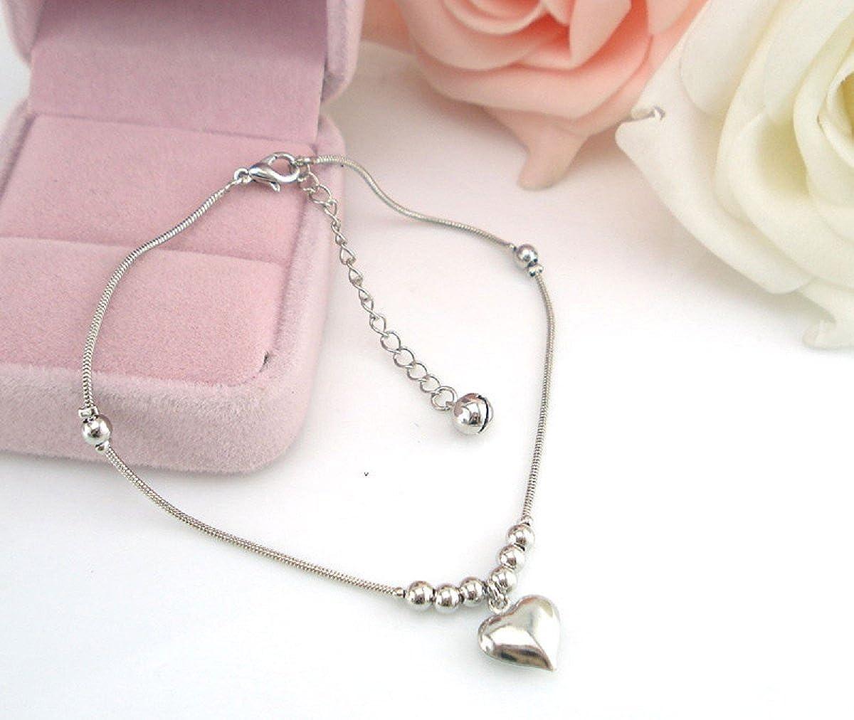 Fullkang Women Heart-shaped Pendant Dolphins Anklet Bracelet Sandal Beach Foot Jewelry