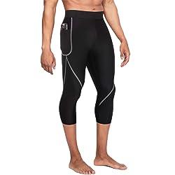 4a406c32de Wonderience Men Neoprene Slimming Pants for Weight Loss Hot Thermo Sauna  Sweat Capri Fitness Workout Body Shaper