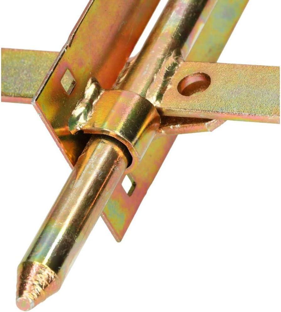KOTARBAU Verrou /à boulon 150 mm Double C/ôt/é Verrou Verrou Verrou Acier Or Galvanis/é Torriegel Escalade Barre de porte coulissante de porte Serrure de porte Solide
