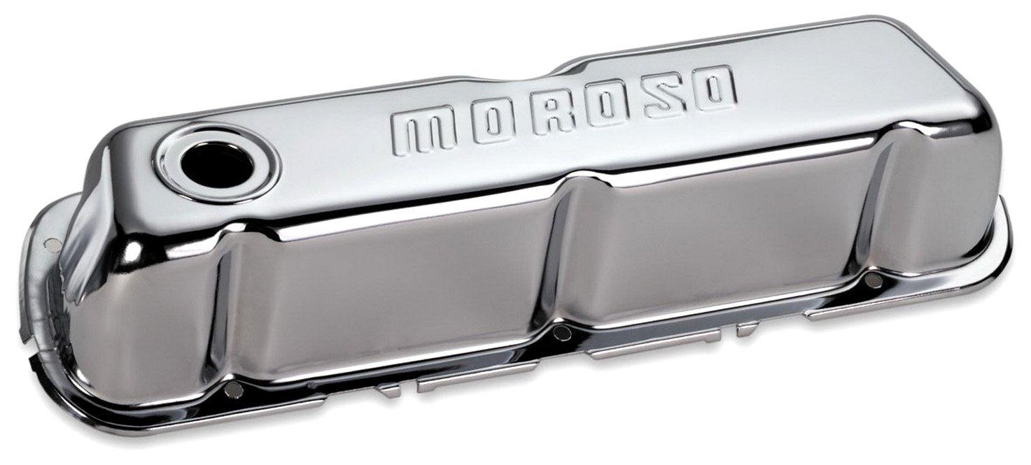 Moroso 68201 Chrome Valve Covers - Satz von 2