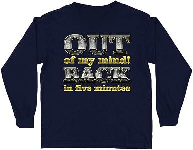 lepni.me Camiseta para Niño/Niña Fuera de mi Mente! Vuelvo en Cinco Minutos. Cita Graciosa: Amazon.es: Ropa y accesorios