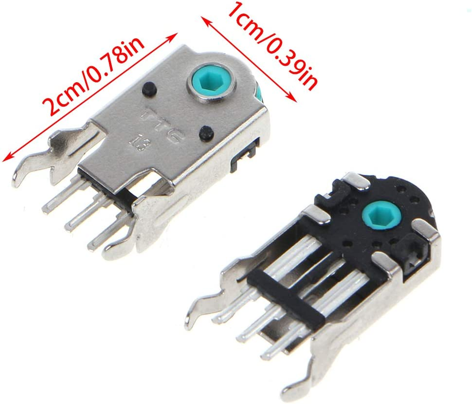 mengersty 2Pcs Original TTC Mouse Encoder Mouse Decoder Highly Accurate 13mm Green Core