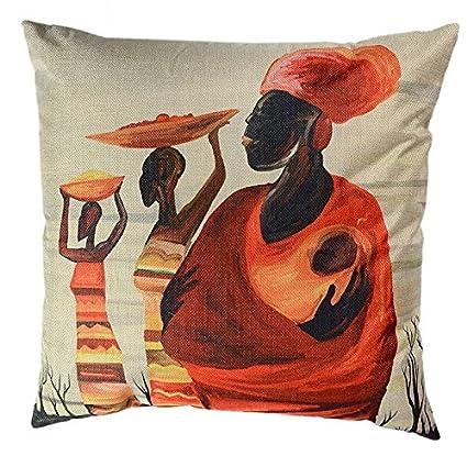 BTIHAFTMAG Throw Pillow Cover Cushion Case 18x18 Inches (Africa)