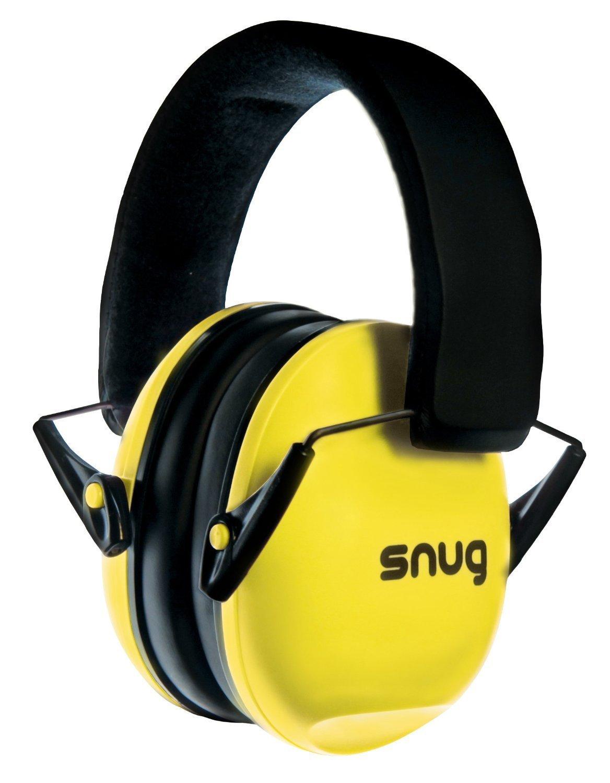 Snug Kids Earmuffs/Hearing Protectors - Adjustable Headband Ear Defenders For Children and Adults (Yellow)