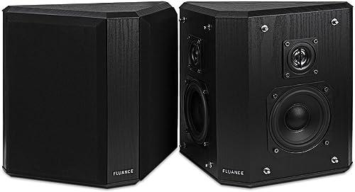 Fluance SXBP2 Home Theater Bipolar Surround Sound Speakers Black Ash