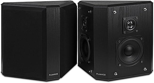 Amazon Com Fluance Sxbp2 Home Theater Bipolar Surround Sound Speakers Black Ash Electronics