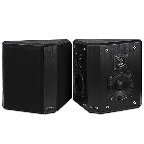 Fluance SXBP2 Home Theater Bipolar Surround Sound Speakers (Black Ash)