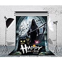 LB 5x7ft Halloween Floor Vinyl Photography Backdrop Customized Photo Background Studio Prop WSJ309