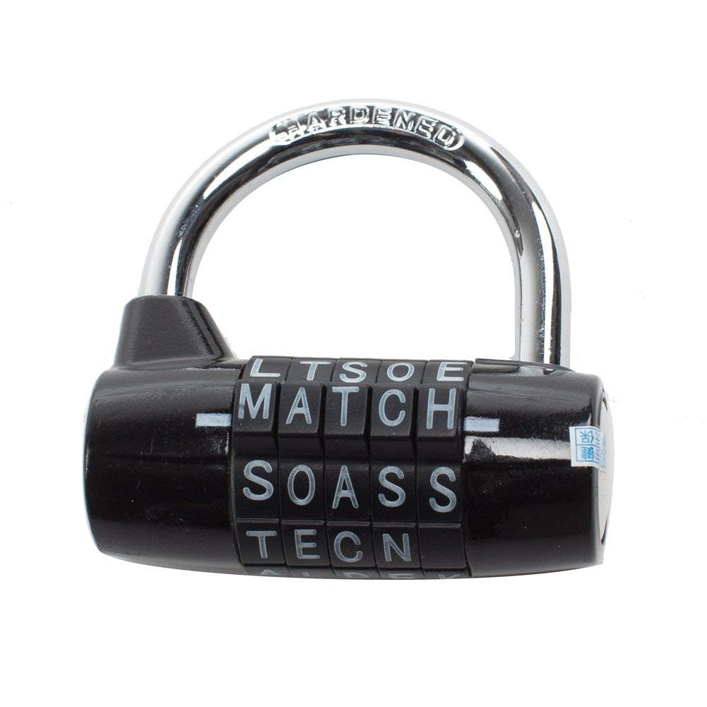 Password lock 5-digit secure resettable padlock ming 1