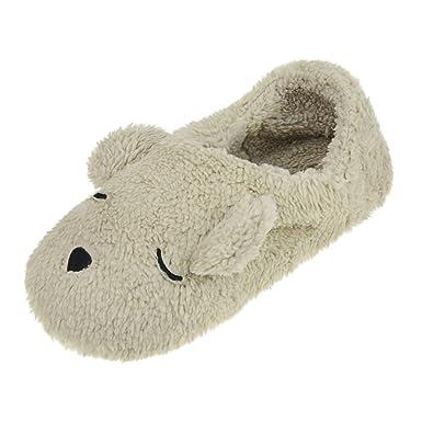hot sale online 9c606 5abb7 YJZQ Damen Winter Hausschuhe Plüsch Pantoffeln Warm ...