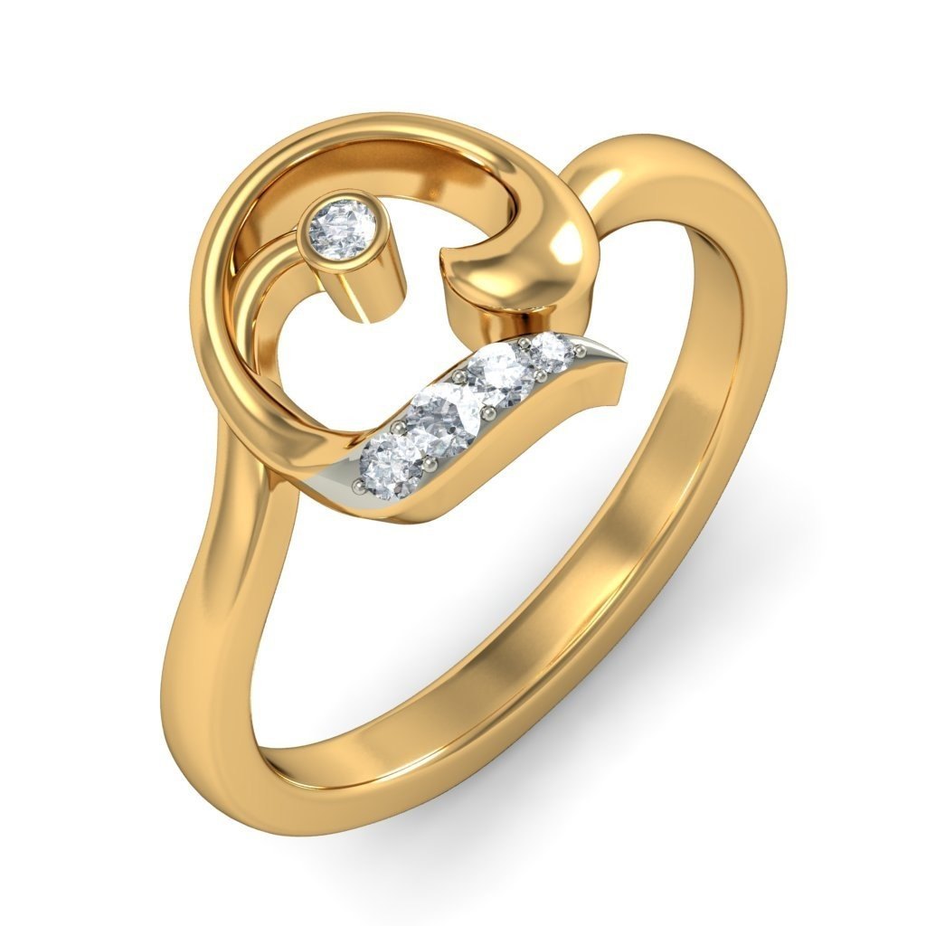 14K Yellow Gold (HallMarked), 0.09 cttw White Diamond (IJ | SI ) Diamond Engagement Wedding Ring Size - 5.5