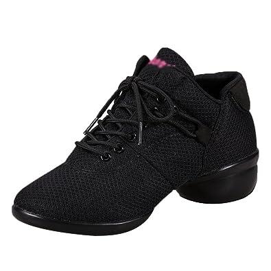 2a8d69586a8b86 YouPue Femme Lacet Mesh Respirant Chaussures De Danse Walking Fitness Hip  Hop Jazz Casual Chaussures