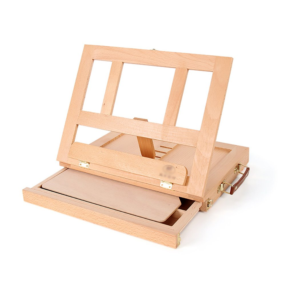 デスクトップ木製イーゼルブナの引き出しタイプイーゼル水彩アクリルセットの描画ボックス油絵フレームイーゼルス Beech) (色 Beech : : Beech) Beech B07FBSXNTS, インカムアゲイン:72ee81b0 --- ijpba.info