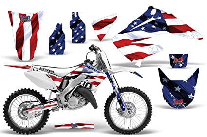2002-2014 Honda CR 125/250 AMRRACING ATV Graphics Decal Kit-Stars and  Stripes