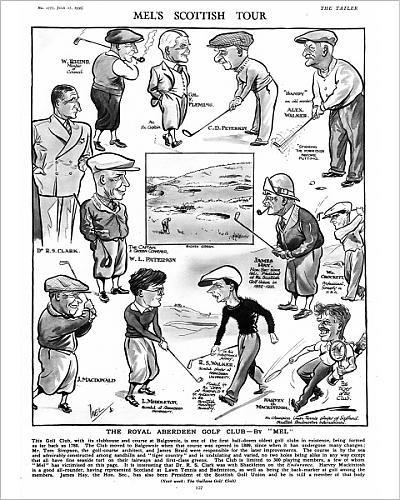 10x8 Print of The Royal Aberdeen Golf Club by Mel (Crockett Club)