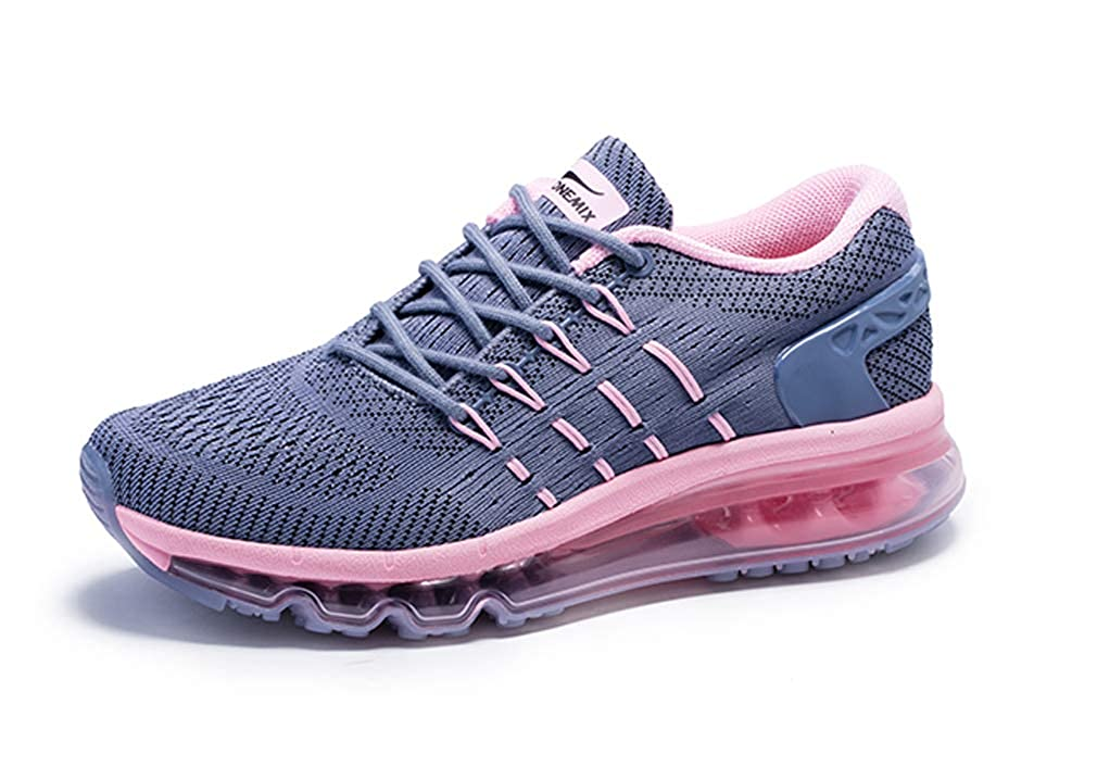 Grey Pink UB-ONEMIX Mens Lightweight Air Running shoes Breathable Gym Outdoor Unique Walking Sneakers